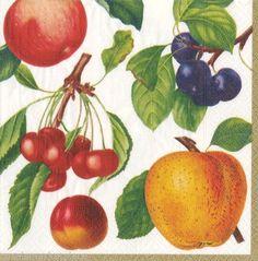 Fruits Decoupage Paper Napkins Apple Decoupage Paper by YWart