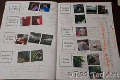 """child's photo diary:  I think my boys would love this!  Will probably do a """"normal"""" week and then special times (camp, fair, etc.).  This would also be fun to do at various times throughout the year, not just summer vacation."""