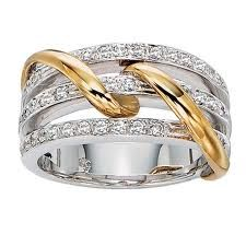 Two-tone rings with spirals