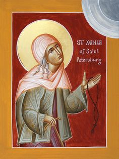 St Xenia the Fool for Christ www.ikonographics.net