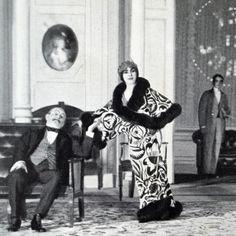 Eve Lavallière wearing the La Perse Coat by Paul Poiret, December 1911