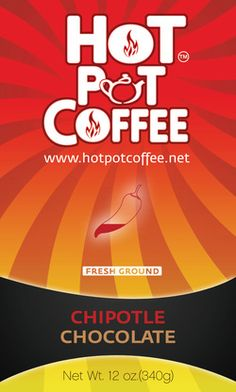 Chipotle Chocolate Flavored Coffee by Hot Pot Coffee