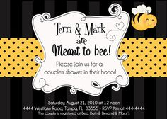 Meant to Bee Bumblebee Bridal Shower by ShutterbugSentiments, $20.00