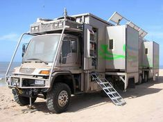 """Unimog 4x4 by Mercedes Benz ~ Expedition / Camper / RV-rig for really living remote, the ultimate bug out vehicle. ~ Miks' Pics """"RV Rigs"""" board @ http://www.pinterest.com/msmgish/rv-rigs/"""