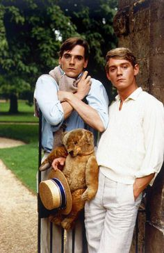 Jeremy Irons  Anthony Andrews in the 1981 British television serial Brideshead Revisited. The 11-part series aired in the U.S. in 1982 on PBS.