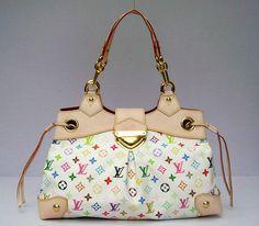 Pin Favor Out, Louis Vuitton Multicolor Ursula White M40123-272