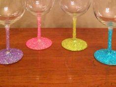 Modge podge & glitter glasses