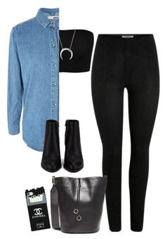 """""""#325"""" by mintgreenb on Polyvore featuring Topshop, Alexander Wang, Chanel and Cafuné"""