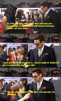 Robert Downey Junior, humble as always. He gets away with it because he's Iron Man and super hot! Basically there is no difference between him and Tony. Marvel Funny, Marvel Memes, Marvel Dc, Marvel Comics, Tv, Iron Man Tony Stark, Downey Junior, Robert Downey Jr, Love Quotes For Him
