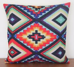 Aztec Kilim Print Linen Cushion Pillow Cover