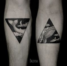 #Brezinski #Ilya #minimal #tattoo #triangles #whale
