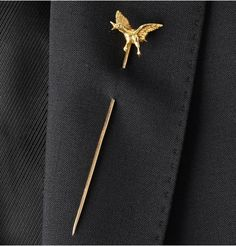 18-Karat Gold Mallard Tie Pin by Foundwell