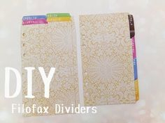 DIY: Filofax Dividers and Tabs - YouTube #dayplanner