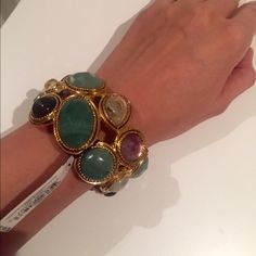 """NWT Carolee Lux Semiprecious stones cuff/bracelet BRAND NEW WITH TAGS! Carolee Lux semi precious stones cuff. Stones and colors are abdolutely beautiful. Large and oversized, approx 2"""" wide. Retail is $195.                   ❌PRICE IS FIRM❌   I DO BUNDLE DISCOUNTS!!! SAVE ON SHIPPING FEES  ✈️  I SHIP FAST!✈️ Carolee Lux  Jewelry Bracelets"""
