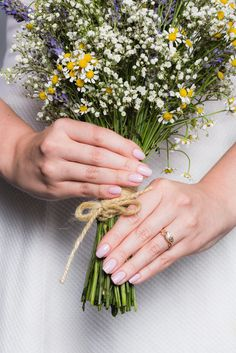 If you're all about the details, then your manicure will factor into that. Your nails need to perfectly complement your rings, skin tone, and, of course, the bouquet! Like this Lovely in Lavender color.