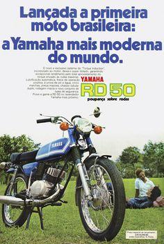 A RD 50 não foi apenas o primeiro modelo feito pela Yamaha no País, como a primeira moto nacional - Divulgação