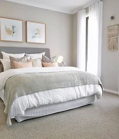 Dreamy Scandinavian Bedroom Inspiration - The Me Plus You D., Dreamy Scandinavian Bedroom Inspiration - The Me Plus You Dreamy Bedroom Inspiration. Cozy Bedroom, Home Decor Bedroom, Trendy Bedroom, Bedroom Wall, Bedroom Rustic, Paint Ideas For Bedroom, Colors For Bedrooms, Spare Bedroom Ideas, Bright Bedroom Ideas