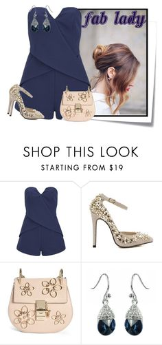 """""""...."""" by elenb ❤ liked on Polyvore featuring Post-It, Finders Keepers and Chloé"""