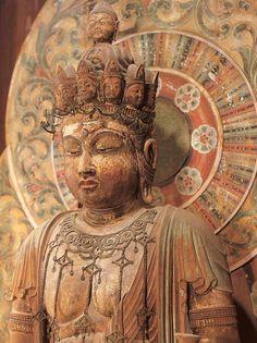 Japanese Buddhism, Japanese Art, Religious Images, Religious Art, Buddha Art, Buddha Statues, Angel Statues, Asian Sculptures, Mahayana Buddhism