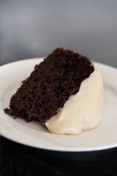 Perfect fro St. Patrick's Day - Dark Chocolate Guinness Cake with Baileys Cream Cheese Icing