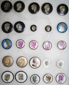 The Regency era was the last period in which buttons were hand-made. From 1850 machine-made buttons took over, coming from factories in the developing industri Vintage Buttons, Vintage Items, Dorset Buttons, Museum Store, Heirloom Sewing, Button Art, Museum Collection, Buttonholes, Regency