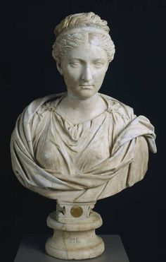 """The Empress Sabina, Roman, C. 130 CE    Museo Nacional del Prado, On View in Room 71    """"Vibia Sabina (83-136 A.D.), a relative of Trajan, was married very young to the future emperor, Hadrian. This portrait, made towards the end of her life, around 130, denotes the intention to create an intemporal image, free of the passage of time."""""""
