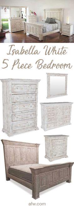 Merveilleux Isabella White 5 Piece Bedroom