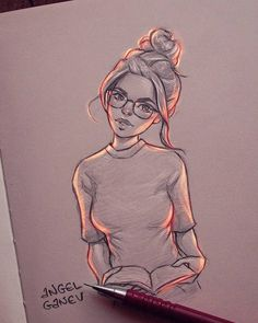 This illustrator creates exceptional light effects on his drawings - Graphic design - Sketches, Drawing Artist, Drawings, Art Drawings Sketches, Cute Art, Illustration Art, Drawing Sketches, Art, Cute Drawings