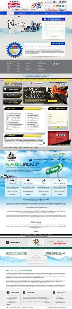 Plumbing Web Design Draft