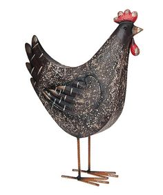 Another great find on #zulily! Black Rooster Statue #zulilyfinds