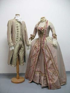 """From """"Marie Antoinette"""" (2006) on the right side: worn by Aurore Clément as Duchesse de Char design by Milena Canonero"""
