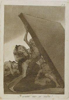 francisco de goya-Capricho nº 59: ¡Y aún no se van! , serie Los Caprichos-1799