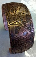 how to make a copper etched bracelet.  Step by step walk through using PnP paper.