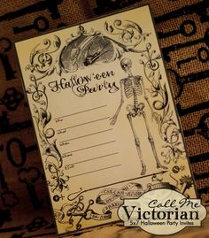 Free Printable Halloween Invite http://callmevictorian.com/864/free-printable-halloween-party-invitations/