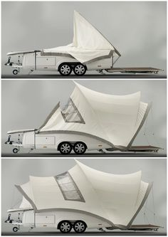Fold out camper
