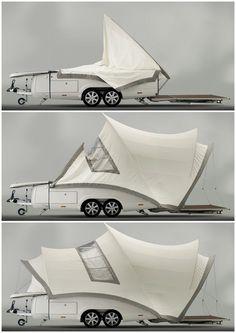 Fold out camper