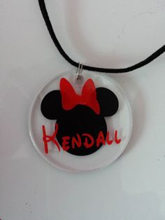 personalized minnie necklace I made for a friend.