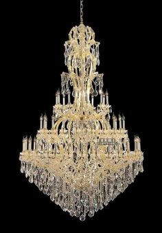 Aliexpress.com : Buy 60 lights chandelier crystal gold color chandelier lighting with shades for hall C9322 220cm W x75cm H from Reliable light wedge suppliers on HK SUNWE LIGHTING CO., LTD.