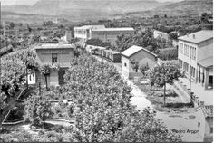 Estación de Arnedo, cocheras y al fondo unos vagones del ferrocarril.(Foto Paco Portíllo)