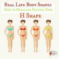 The H body shape may also be known as the brick or for some the apple (though I don't agree), learn how to flatter and enhance this shape