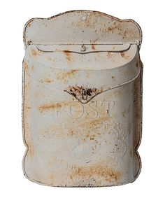 Look what I found on #zulily! White Metal Antique Post Box by Designs Combined Inc. #zulilyfinds