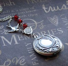 A personal favorite from my Etsy shop https://www.etsy.com/listing/63333983/silver-locket-necklace-enchanted-royal