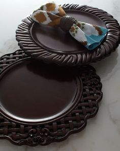BETIS CRAFTS INC Wooden Charger Plates
