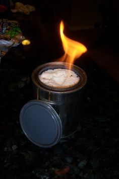 """Simple homemade """"Sterno"""" for those lousy power outages!"""