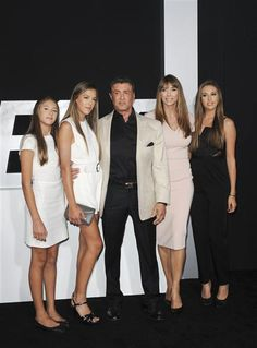 "Sylvester Stallone and his family attend the premiere of ""The Expendables 3"" in Los Angeles on Aug. 11, 2014."