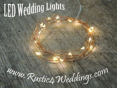 Fairy Lights LED copper strand battery powered string lights for Rustic Weddings. Buy Now! $6.95 for 1 strand.