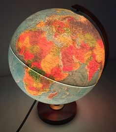 "Vintage Mid Century Replogle World Horizon Series 12"" Light-Up Globe by AntiquesandStuff56 on Etsy"