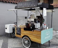healthy food list for kids diet free recipes Mobile Coffee Cart, Mobile Food Cart, Food Cart Design, Food Truck Design, Cafe Design, Coffee Food Truck, Vendor Cart, Bicycle Cafe, Bike Food