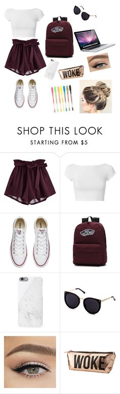 """1st school day"" by wendyfashion on Polyvore featuring Helmut Lang, Converse, MAC Cosmetics and Charlotte Russe"