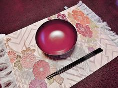 You can almost feel the texture of this Japanese place mat! From Washoku